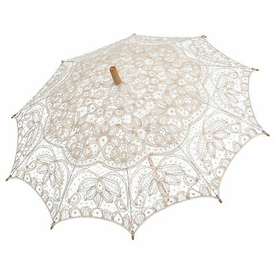 Remedios19 colors Ivory Vintage Bridal Wedding Cotton Lace Parasol Umbrella