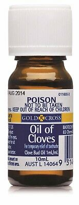 Gold Cross Oil of Cloves Temporary Relief of Toothache Clove Bud Oil 10mL