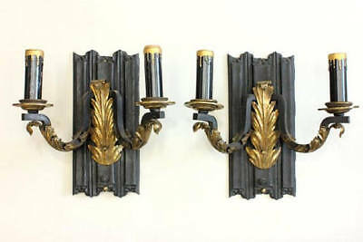 Antique French Neoclassical Sconces Pair Napoleon III French Sconces French Acan