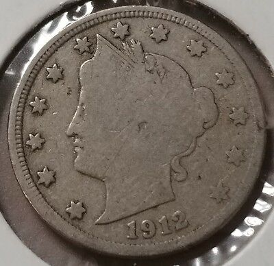 1912-S Liberty V-Nickel!!! Only 238,000 Minted!!! Key Date!
