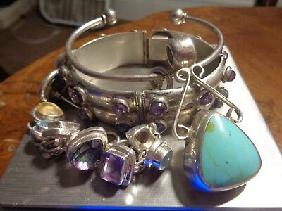 Sterling Silver Scrap or Not Lot of Beautiful Mixed Jewelry Pieces!!
