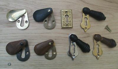 Vintage Retro Victorian Style Keyhole Key Hole Covers Escutcheon Open Covered