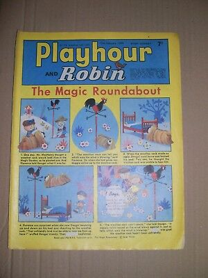 Playhour and Robin issue dated February 15 1969 small piece cut out cover