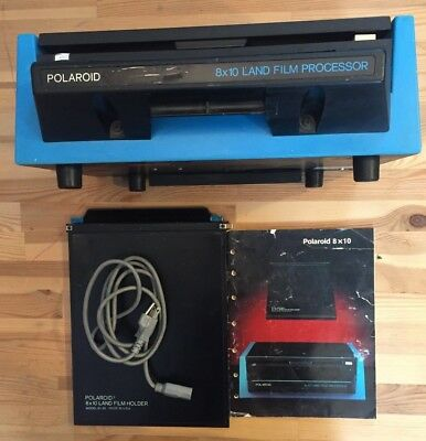 Polaroid Land 8x10 Film Processor Model 81-01 WITH FILM HOLDER & INSTRUCTIONS