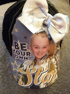 JOJO SIWA BE YOUR OWN STAR Black Cap Hat WITH  SILVER  Bow