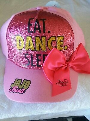 Nwt Jojo Siwa Eat Dance Sleep Bow Pink Hat Cap