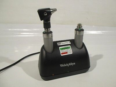 Welch Allyn Rechargeable Handle 71670 + Desk Charger + Otoscope Ophthalmoscope
