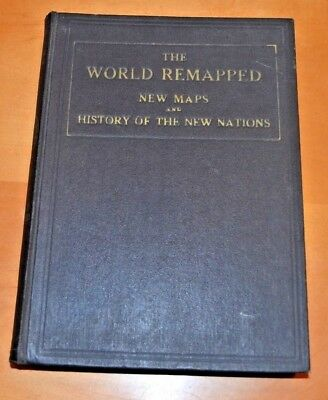 "Vintage 1922 ""New Pictorial Atlas of the World"" The World Remapped - NICE"