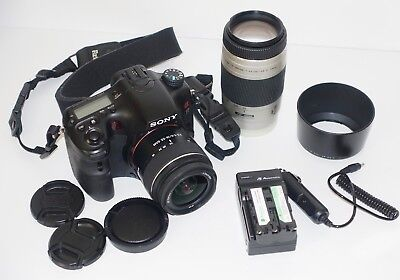 Sony Alpha SLT-A77 24.3MP Digital SLR Camera - (Kit w/ 18-55mm Lens) Bundle