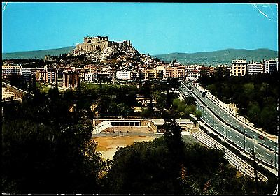 Pc - Athens  View Of The Acropolis Posted 1972