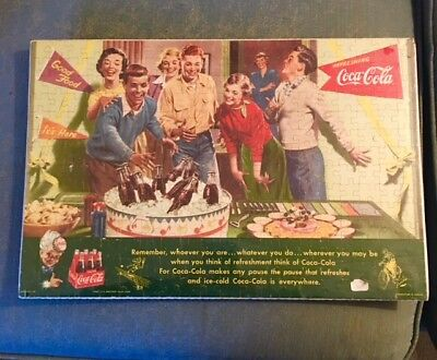 1952 Coca-Cola Canadian Jigsaw Puzzle with Original Envelope - RARE!!!