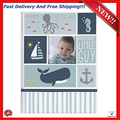 Baby Book First 5 Years Memory Book Record Memories Child Photo Album Blue Gift