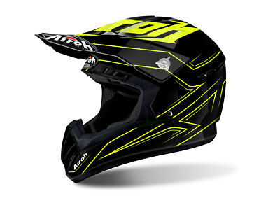 Airoh Switch Spacer Yellow Motocross Helmet - Acu Gold Stamp Fitted