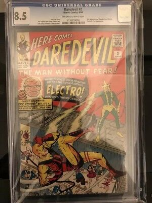Daredevil #2 CGC 8.5  2nd App of Daredevil & Electro!! Quick sale - best offers!
