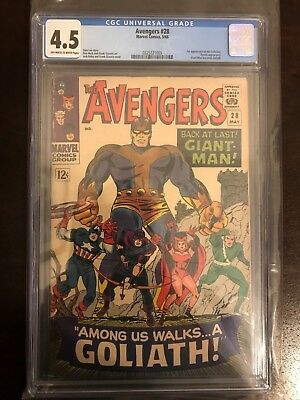 Avengers #28 CGC 4.5 - 1st App the Collector!!! Giant Man becomes Goliath!!!BEST