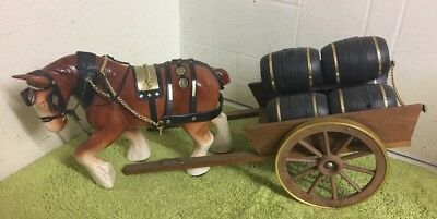 Vintage Gypsy Shire Horse And Cart