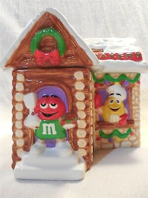 2003 M&M's Galerie Christmas Bakery Ceramic Cookie Candy Jar