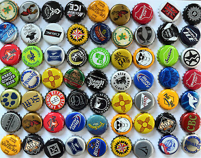100 Mixed Beer Bottle Caps Great Colors No Dents Fantastic Mix Guarantee