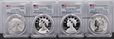 2017 American Liberty 225th Anniversary Silver Four-Medal Set PCGS 70 FIRST STRK