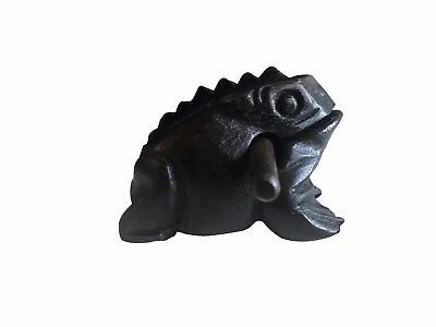 Handmade Mondo Dark Brown Wooden Percussion Frog