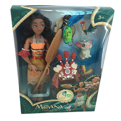 NEW Moana Singing Feature Doll with LED Light Up Necklace Toys Gifts