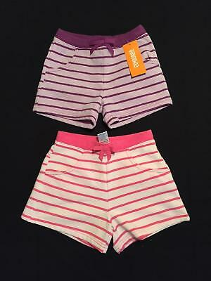 NWT Gymboree Girls Two-Pack Everyday Favorites Striped Knit Shorts Size 4 or 8