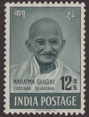 India Modern 1948 SG307 12a Grey-green Gandhi MM CV£27