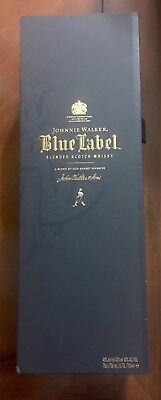 Johnnie Walker Blue Label Box - Empty - With Bottle Tag