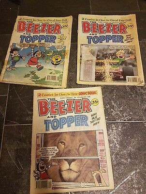 Large Collection 68 BEEZER AND TOPPER Comics including First Edition 1990 - 1993