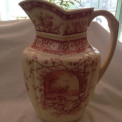 E.M&Co.beautiful Transferware Pitcher/Jug /Vase.Wonderful condition.$425.00