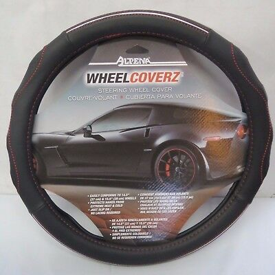 "Alpena Wheel Coverz - Steering Wheel Cover - Black/Red - 14.5"" - 15.5"" - New"