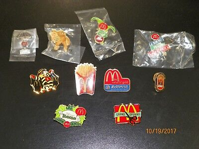 McDonalds Collectable Crew Pins Lot of 10