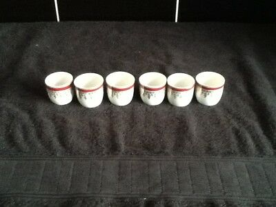 Lovely Vintage Set 6 Matching China Egg Cups No Reserve
