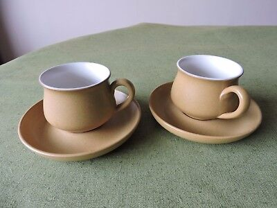 Denby Ode Cup and Saucer x 2