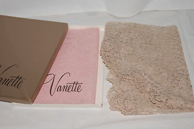Beautiful Vintage Vanette Lace Triangle Scarf with Pearls - NOS - New in Box