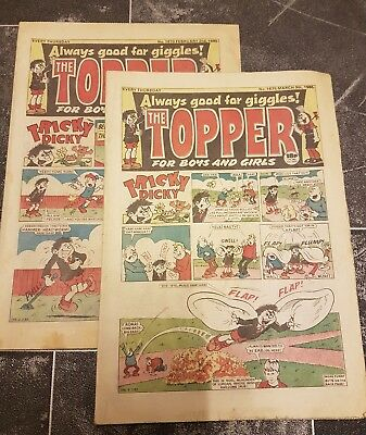 Selection of 10 TOPPER Comics 1985 to 1990