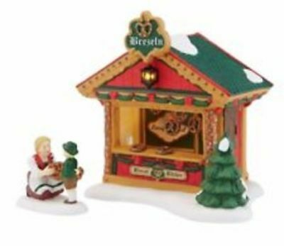 Dept. 56 Alpine Village Christmas Market Pretzel Booth NIB Free Shipping