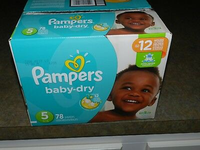 Pampers Baby Dry Diapers Size 5, Super Pack, 78 Count