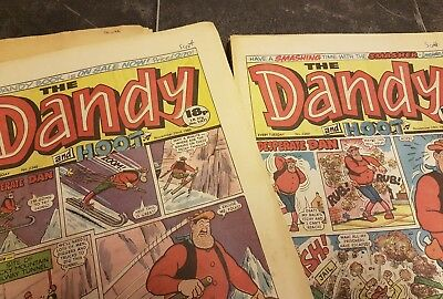 Selection of DANDY and DANDY AND HOOT COMICS 1986 to 1987