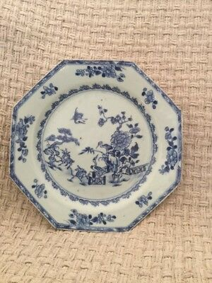 Antique Or Vintage Octagonal Oriental Chinese Japanese Plate