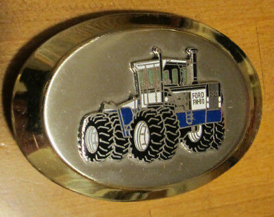 FORD FARM TRACTOR SILVER/GOLD BELT BUCKLE...NICE made in USA