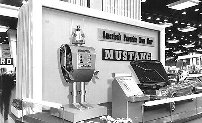 1966 Mustang Car Show Exhibit with Freddie Ford Robot  4 x 6 Photograph