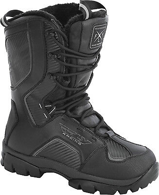 Mens FLY Racing Marker Black Snowmobile Winter Snow Boots -40 F Size 9