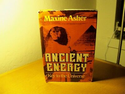 Ancient Energy Key to the Universe book Maxine Asher H/B D/J 1979 First Edition