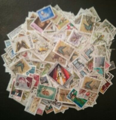 Lot Of Various African Stamps (200+)Good Condition .