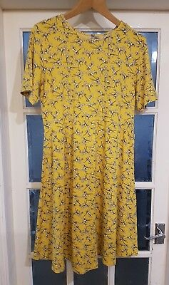 Lovely Yellow Print Asos Maternity Jersey Dress 16