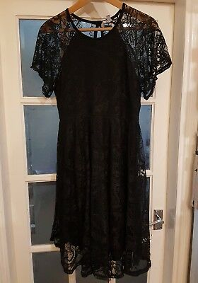 Stunning Black Asos Maternity Lace Overlay Dress 16