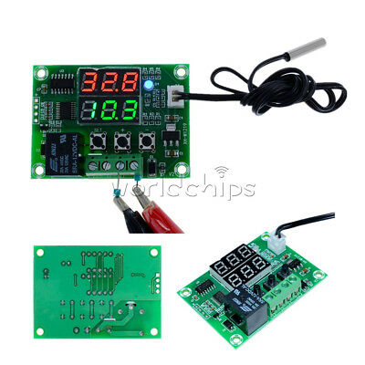 DC 12V Dual LED Digital Thermostat Temperature Controller Timer Relay Module