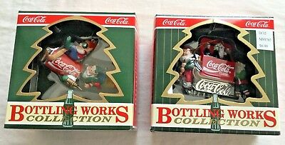 Lot of Two Coca Cola Bottling Works Collection Ornaments 1992, 1997 NIB!