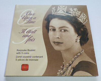 Canada 50 Cents 2002 set, Keepsake Booklet with 5 coins - Once Upon a Time
